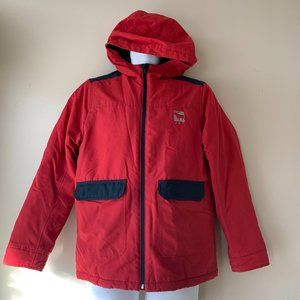 ABERCROMBIE KIDS navy and red rainjacket  15/16